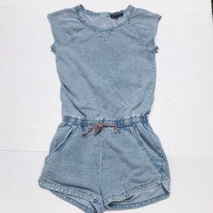 Madden Soft Denim Looking Shorts Romper